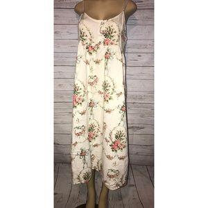 90s Vintage Victoria Secret Cotton Slip Midi Dress